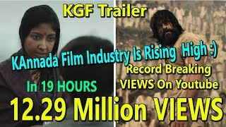 KGF Trailer Becomes Fastest Kannada Trailer To Gets Over 12 Million Views In 19 Hours