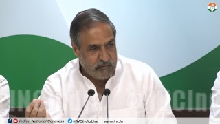 AICC Press Briefing by Anand Sharma at Congress HQ on Demonetisation