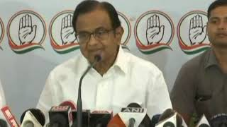 P. Chidambaram addresses media on the 2019 election manifesto in Guwahati