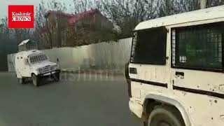 Massive clashes erupted in Pulwama following the killing of two local Hizbul Mujahideen militants in