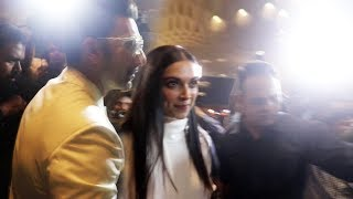 Ranveer Singh An Deepika Padukone MOBBED By MEDIA At Airport | Ranveer-Deepika Marriage In Italy
