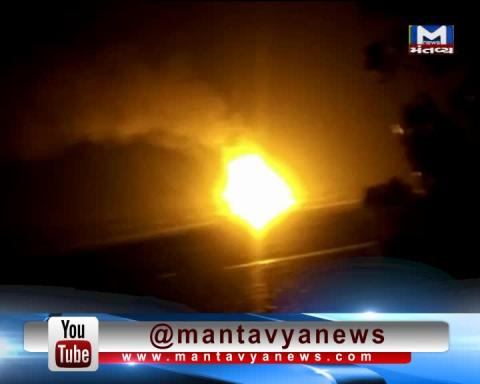 Fire breaks out in the Freight Train between Dahanu & Vangaon   Mantavya News