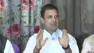 Chhattisgarh Congress Manifesto: Congress President Rahul Gandhi addresses media at Rajnandgaon