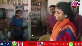 BJP LEADER SWARNAMMA ELECTION CAMPING  AT NIRMAL DIST