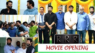 RRR Movie Opening Ceremony Pooja | RRR Movie Massive Launch | Ram Charan | Jr NTR | Chiranjeevi