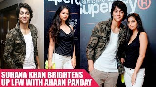 Suhana Khan Brightens Up LFW With Ahaan Panday
