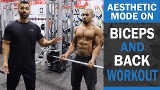 AESTHETIC MODE ON Back and Bicep Workout ! DAY 2 (Hindi / Punjabi)