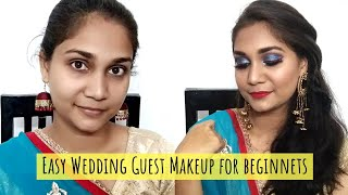 Brother's/Sister's Wedding Makeup | Indian Wedding Guest Makeup for Beginners step by step in Hindi