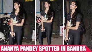 Chunky Pandey Daughter Ananya Pandey Spotted At Bandra