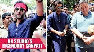 Ranbir Kapoor, dad Rishi Kapoor Bid Farewell To Lord Ganesha