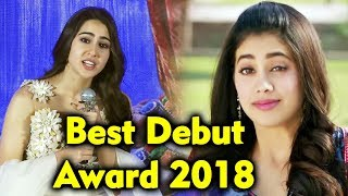 Sara Ali Khan REPLY On Comparing With Janhvi Kapoor | Best Debut Award 2018
