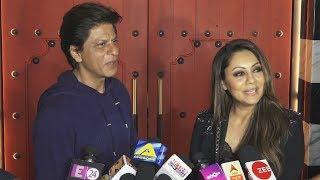 Shahrukh Khan And Gauri Khan At Opening Of Sancho's Restaurant Designed By Gauri