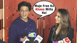 Gauri Ke Restaurant Me Muje Free Khana Milta Hai | Shahrukh Khan At Gauri Khan's Restaurant Launch