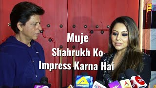 Shahrukh Khan & Gauri Khan FUN Chit Chat - New Restaurant Launch Designed By Gauri Khan