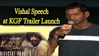 Tamil Hero Vishal Amazing Speech at KGF Trailer Launch | #KGF Trailer | Yash | Prashanth Neel