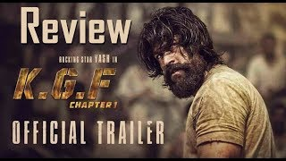 KGF Trailer Review | Rocking Star Yash | Srinidhi Shetty | Prashanth Neel | Vijay Kiragandur | #KGF