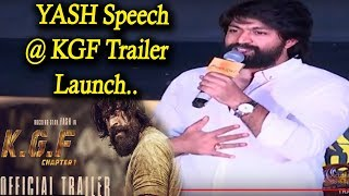 Yash Amazing Speech at KGF Trailer Release || Yash || #KGF Trailer || Top Kannada TV