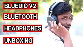 Bluedio V2 Bluetooth headphones Unboxing and Review Telugu