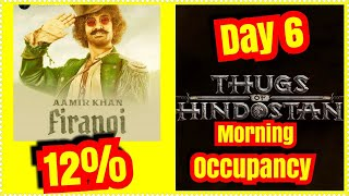 Thugs Of Hindostan Audience Occupancy Day 6 Morning Shows