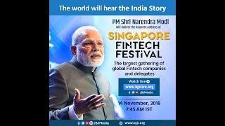 PM Shri Narendra Modi delivers keynote address at Singapore Fintech Festival