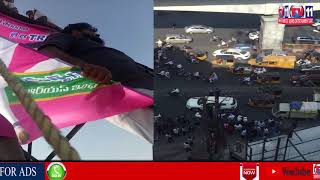 TRS LEADERS CLIMB CELL TOWER FOR KHAIRATABAD MLA TICKET TO MANNEY GOVIND REDDY