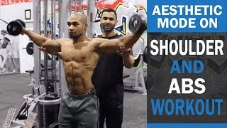 AESTHETIC MODE ON Shoulder and Abs Workout! DAY 3 (Hindi / Punjabi)