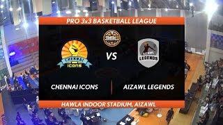 3BL Season 1 Round 2(Aizawl) - Full Game - Day 2(QF) - CHENNAI ICONS vs AIZAWL LEGENDS