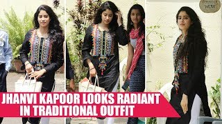 Jhanvi Kapoor Looks Radiant In Traditional Outfit