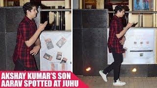 Akshay Kumar's Son Aarav Spotted Hiding His Face From The Media