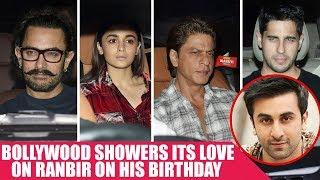 Shah Rukh Khan, Aamir Khan and Alia Bhatt Attend Ranbir Kapoor's 35th Birthday