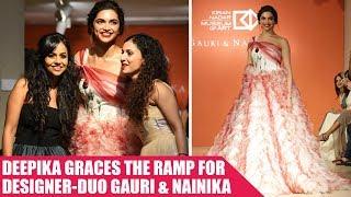 Deepika Padukone Graces The Ramp For Designer-Duo Gauri and Nainika