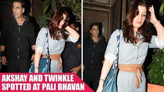 Akshay Kumar and Twinkle Khanna clicked outside Pali Bhavan