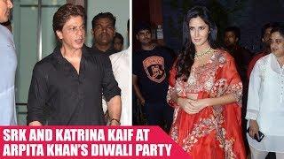 Shah Rukh Khan and Katrina Kaif attend Arpita Khan's Diwali bash