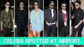 Celebs SPOTTED At Airport - Alia Bhatt, Karan Johar, Parineeti, Ayushmann, Arjun Kapoor