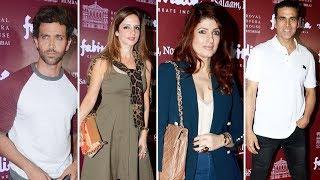 Akshay Kumar, Twinkle Khanna, Hrithik Roshan, Sussanne Khan At Red Carpet Of Play Salaam Noni Appa
