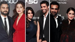 Indian Cricketers With HOT Girlfriends & Wives At Indian Sports Awards 2017