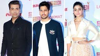 Lokmat Most Stylish Awards 2017 Red Carpet   Alia Bhatt, Karan Johar, Sidharth Malhotra