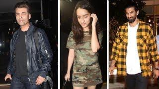 Aditya Roy Kapur, Shraddha Kapoor, Karan Johar SPOTTED After Dinner At  Yauatcha