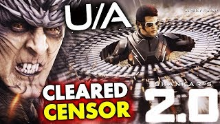 2.0 Movie Passed With UA Certificate By CENSOR BOARD Without Any Edit