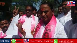 NIRMAL TRS LEADER & EX MINISTER ALLOLA INDRAKARAN REDDY FILES NOMINATION AT NIRMAL DIST