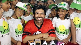 Kartik Aaryan Celebrates Children's Day With Kids Of Smile Foundation