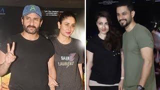 Saif Ali Khan Host Special Screening Of Kaalakaandi For Kareena, Soha Ali Khan & Kunal Kemmu