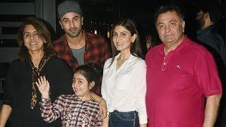 Kapoor Khandaan Spotted At Restaurant in BKC - Ranbir Kapoor, Rishi Kapoor, Neetu Kapoor