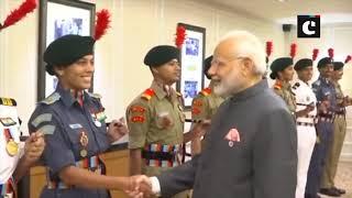 PM Modi meets NCC cadet in Singapore