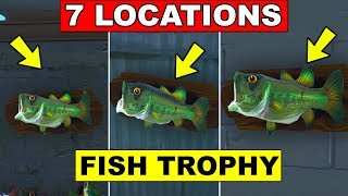 7 FISH TROPHY LOCATIONS - Dance with a Fish Trophy at different Named Locations (Week 8 Challenge)