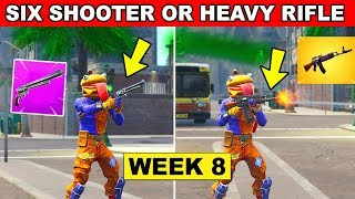 Six Shooter or Heavy Assault Rifle Eliminations - Fortnite Week 8 Challenge Location