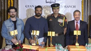 Sunil Shetty And Neil Nitin Mukesh Attends Felicitation Of Indian Soldiers Family