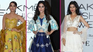 Nimrat Kaur, Surveen Chawla, Sagarika Ghatge, Hina Khan Walk The Ramp At LFW 2018