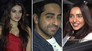 Nidhhi Agerwal, Ayushmann Khurrana, Neha Sharma Attend Screening Of Movie Pad Man At Yashraj