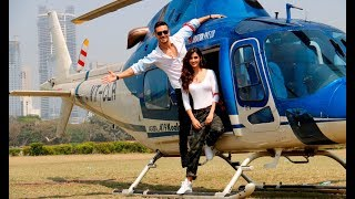 VIDEO : Tiger Shroff & Disha Patani's Grand Entry In CHOPPER For Baaghi 2 Trailer Launch